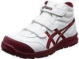[アシックス] ワーキング 安全靴/作業靴 ウィンジョブ CP302 JSAA A種先芯 耐滑ソール αGEL搭載 ホワイト/バーガンディ 27.5