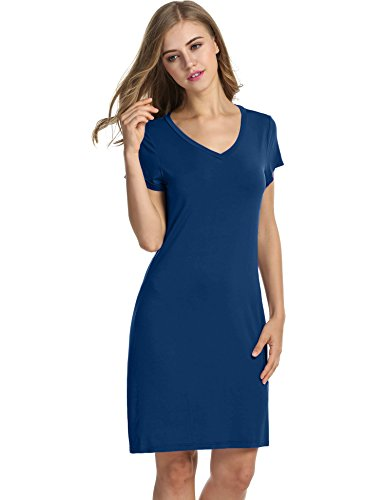 Avidlove Womens Sleepshirt Short Sleeve Nightdress Soft Sleep Tee Nightshirt