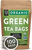 Organic Green Tea Bags   100 Tea Bags   Eco-Conscious Tea Bags in Kraft Bag   by FGO