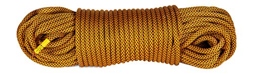 Mantle - Kletterseil 50m 9,8mm schwarz orange als dynamisches Einfachseil Climbing Rope