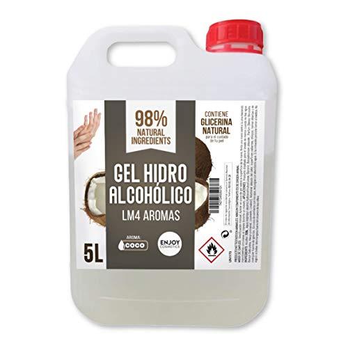 Gel hidroalcohólico, higienizante de 5 litros. Aroma suave