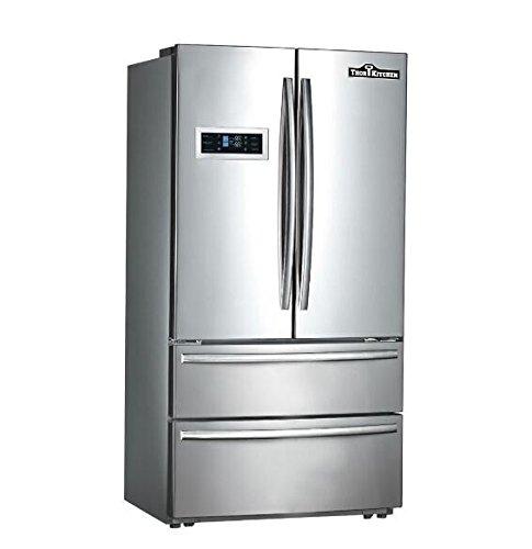 "Thor Kitchen Thorkitchen HRF3601F Cabinet Depth French Door Refrigerator, Ice Maker, 36"", Stainless Steel"