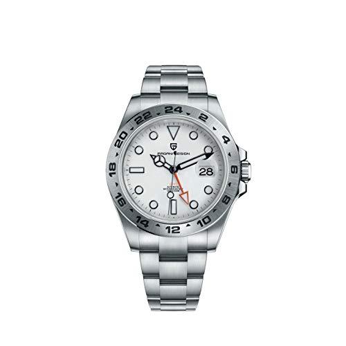 Pagani Design GMT Herren Uhren automatische mechanische Mode Casual Business Kleid Analog Uhr wasserdichte Uhren Edelstahl Armband 1682