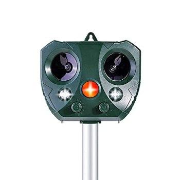 AWLGAK Répulsif Chat Exterieur,Repulsif Chat Ultrason Solaire Chat Exterieur 5 mode Fréquence Réglable Répulsif Animaux Imperméable Protecteur de Jardin (1pack)