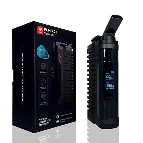 Vaporizador FENiX 2.0 evaporador premium para hierbas y extractos + cámara de titanio + 100% CONVECCIÓN + batería 4400 mAh...*NEGRO* *¡SIN NICOTINA!*