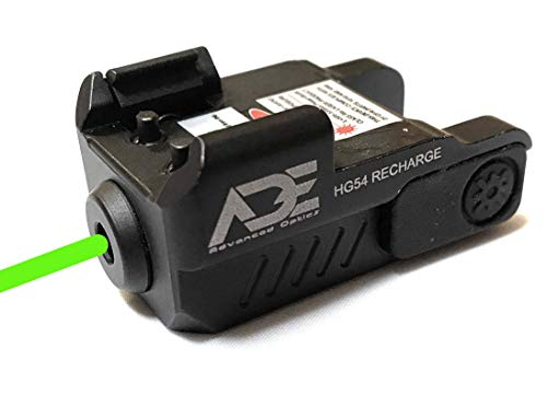 Ade Advanced Optics HG54G Rechargeable Strobe Laser Sight for Pistol Handgun, Green