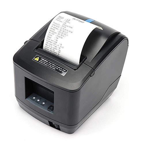 Stampante termica, 80mm USB LAN Ethernet Pos stampante per ricevute per cucina, MUNBYN Stampante Windows Mac con supporto taglierina automatica Indirizzo IP impostazione automatica DHCP
