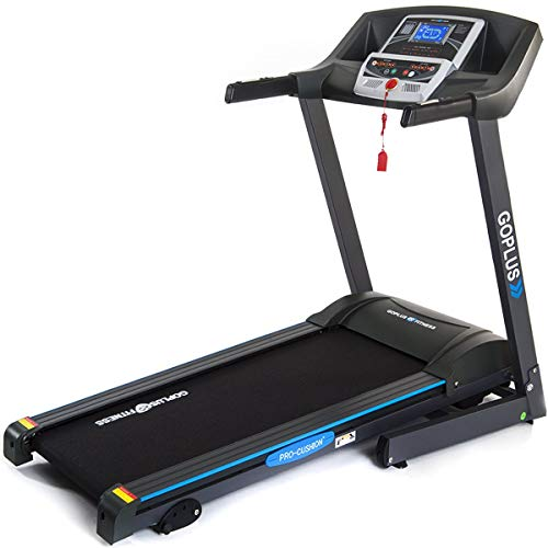 Goplus 2.25HP Electric Folding Treadmill with Incline, Walking Running Jogging Fitness Machine,…