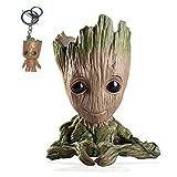 Kyhon Baby Groot Maceta - Maravillosa Figura de accin de Guardians of The Galaxy para Plantas y bolgrafos y Plumas Decoracin de Habitaciones para nios de Familia, macetas-Forma de corazn