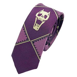 OfficialOtaku Kira Yoshikage Cosplay Slim Tie – Purple