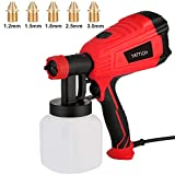 YATTICH Paint Sprayer, 500 Watt Home Electric Spray Gun, with 3 Patterns and 5 Copper Nozzles, Easing Cleaning, for Furniture, Fence, Car, Bicycle, Chair etc. YT-191…