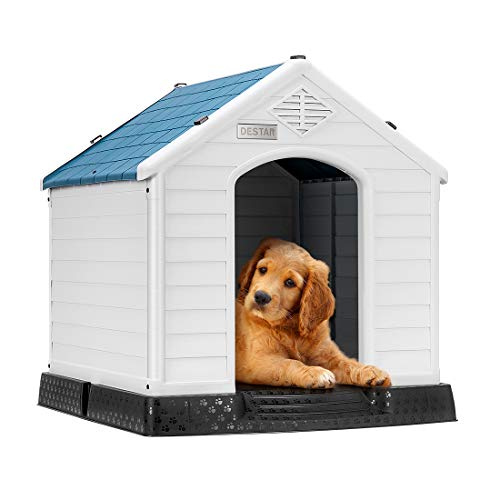 DEStar Durable Waterproof Plastic Pet Dog House...