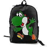 Yuanmeiju Classic Worlde Mochilas Bag Green Yoshi Nylon Large Capacity Novelty Laptop Bag for Kids Women Men