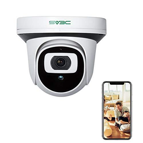 SV3C POE Telecamera IP Interno 1080P Telecamera di Sicurezza Staccabile con Visione Notturna, Rilevamento del Movimento, Audio a 2 Vie, Accesso Remoto Supporta Onvif