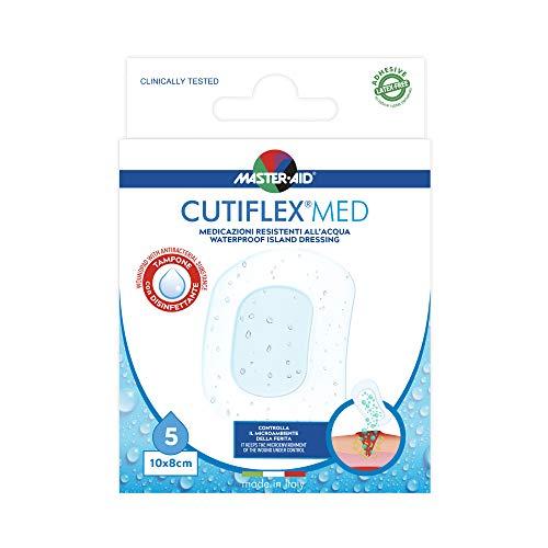 MASTER AID Cutiflex Med 10 X 8 Cm, Bianco/Blu 5 Unit
