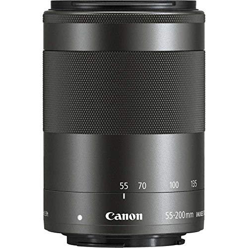 Canon Obiettivo Grandangolare EF-M 55-200 mm, f/4.5-6.3 IS STM, Compatibile con Canon EOS-M, Nero/Antracite