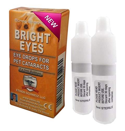 Ethos Carnosine Eye Drops 2 Boxes (4 x 5ml Bottles) Bright Eyes NAC Eye Drops for Pets as Seen on UK National TV with Amazing Results! NAC n Acetyl carnosine Eye Drops