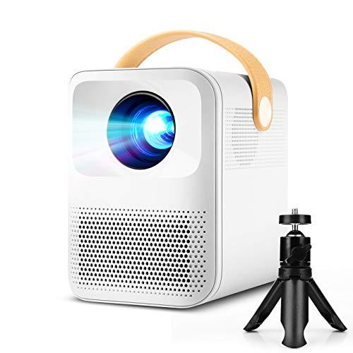 Mini Projecteur, PODOOR Videoprojecteur Native 1920*1080P Full HD 1080P Retroprojecteur Portable, 5800 Lumens Projecteur de Cinéma Maison Compatible iPhone, Android, TV Stick, HDMI AV USB