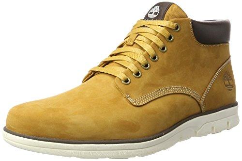 Timberland Bradstreet Chukka Leather, Botas Hombre, Amarillo (Wheat Nubuck), 41.5 EU