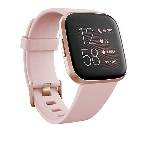 Fitbit Versa 2, Smartwatch con control por voz, puntuación del...