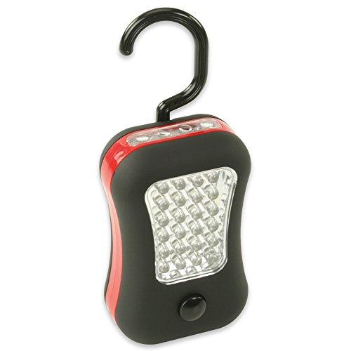HyCell LED Werkstattlampe 2in1 mit Haken & Magnet - Profi Arbeitslampe mit 45 Lumen - Vielseitige Taschenlampe für Auto & Werkstatt Zubehör - LED Arbeitsleuchte als Suchlicht inkl AAA Batterien