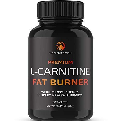 Nobi Nutrition L-Carnitine Fat Burner - Healthier Weight Loss for Women & Men - Diet Pills, Appetite Suppressant, Carb Blocker, Metabolism & Thermogenesis Booster 1