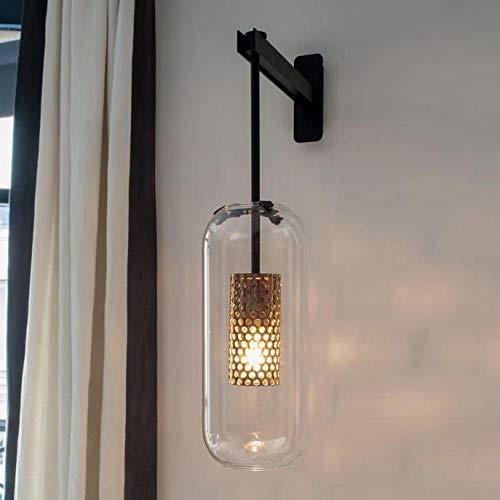 Italie Design Applique murale Scone Noir/Or Chambre Lampe de chevet lumière miroir Décoration intérieure lampes de mur intérieur moderne Salle de bains@Noir