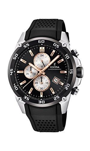 Festina Unisex Erwachsene Chronograph Quarz Uhr mit Leder Armband F20330/6