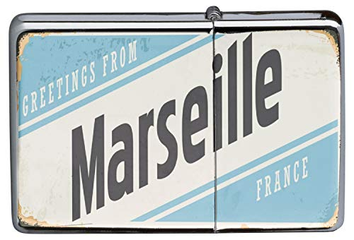 LEotiE SINCE 2004 Briquet Chromé Essence Voyage Cuisine Marseille France...
