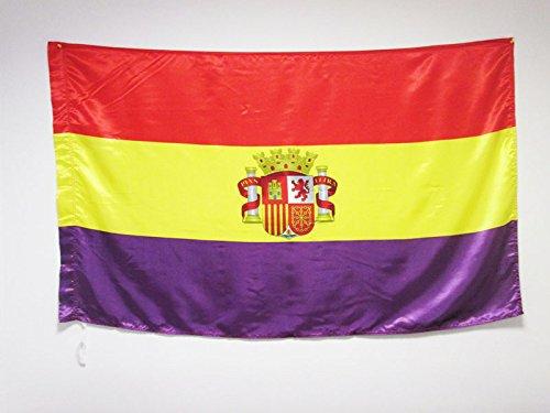 AZ FLAG Bandera ESPAÑA Republicana con Escudo 150x90cm en R