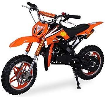 Kinder Mini Crossbike Delta 49 cc 2-takt Dirt Bike Dirtbike Pocket Cross (Orange)