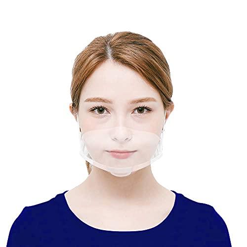 10 x Visiera Protettiva Trasparente Per Adulti Naso e Bocca Schermi di protezione da Schizzi in Plastica Lavabile e...