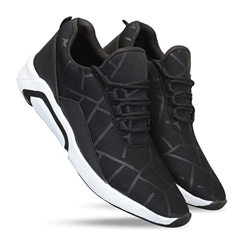 layasa Men's Running Sports Shoes for Men and Boys Black