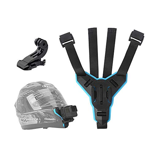 Telesin supporto da casco moto anteriore chin supporto per GoPro Hero 2018/6/5/4/3, Session, SJCAM, Akaso, campark-occhiali, Polaroid, Yi Action Camera da casco curvo