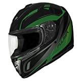Fulmer, 1521222, Adult Full Face Motorcycle Helmet DOT Approved 152 Ace - Green, S