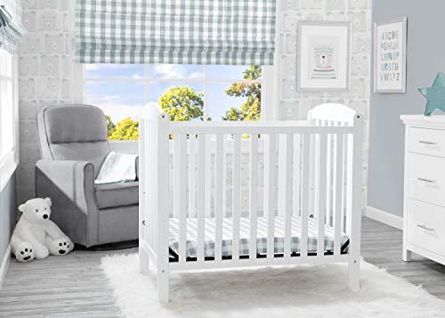 Product Image 9: Delta Children Emery Mini Convertible Baby Crib with 2.75-inch Mattress, Bianca White