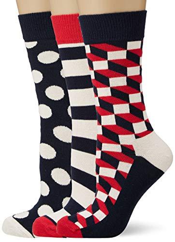 Happy Socks Classic Stripe Gift Box, Calzini Donna, Multicolore (Multicolour 600), 36/40 IT