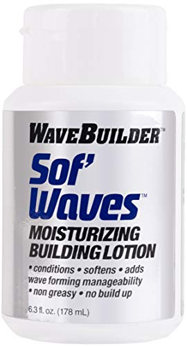 WaveBuilder Sof' Waves Moisturizing Building Lotion | Conditions, Softens Hair to Promote Hair Waves, 6.3 fl oz