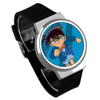 Montres Homme,Écran Tactile LED Nom De La Montre Detective Conan Anime Entourant Le Cadeau Créatif De La Montre Électronique Lumineuse Étanche E