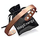 Copper Bracelet for Men and Women 99.9% Pure Copper Bangle 6.5' Adjustable for Arthritis with 8 Magnets for Effective Joint Pain Relief, Arthritis, RSI, Carpal Tunnel