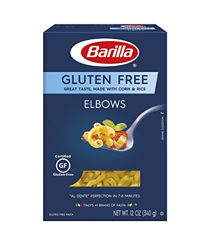 Barilla Gluten Free Pasta, Elbows, 12 Ounce (Pack of 8)