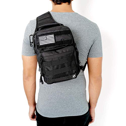 Gecko Tactical Sling Backpack, Small...