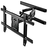 PERLESMITH Full Motion TV Wall Mount for 37-80 Inch Flat Curved TVs with Smooth Tilts Swivel &...
