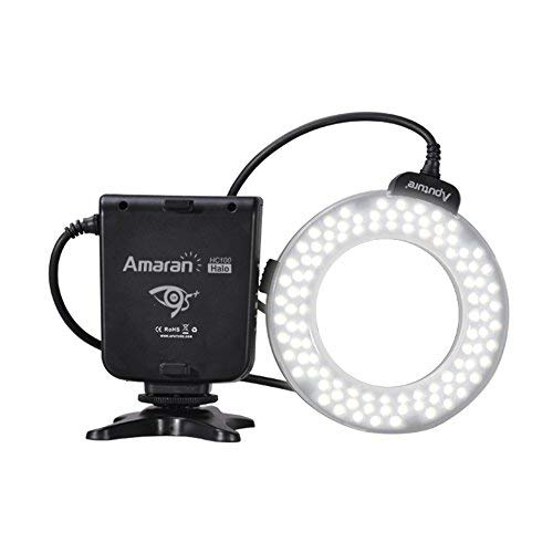 【 Aputure Amaran LED 100球 リングライト HC100 】 Canon デジタル一眼レフカメラ対応 オートマクロストロボ