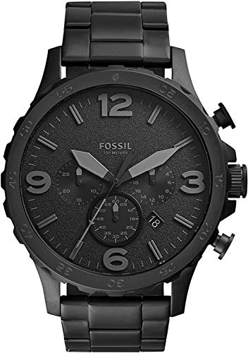 Fossil Men's Nate Quartz Stainless Steel Chronograph Watch,...