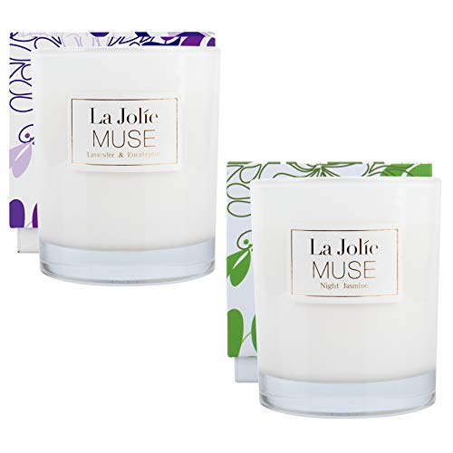 LA JOLIE MUSE Soy Scented Candle Set, Candle Gift for Women,...
