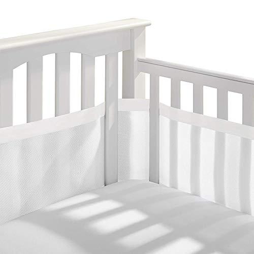 Tours de lit, Doublure en Maille 4 côtés pour lit de bébé Respirant Anti-Collision pour la Maison