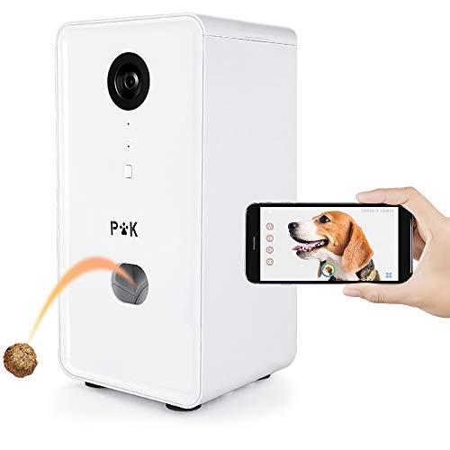 PUPPY KITTY Cámara Inteligente para Perros, con WiFi Full HD,dispensador de golosinas para Gatos y Perros, Vista Completa de 165 °, Visión Nocturna y Comunicación de Audio bidireccional
