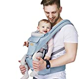 Baby - Carrier, 6-in-1 Baby Carrier with Waist Stool-, FRUITEAM Baby Carrier with Hip Seat for...