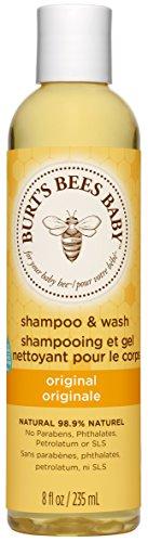 Burts Bee Baby Shampoo & Wash | Irriteert niet en prikt niet in de ogen | Door kinderartsen getest | Voor dagelijks gebruik | Inhoud: 235 ml